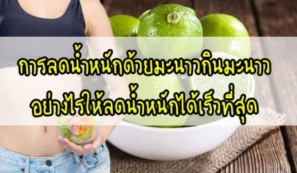 การลดน้ำหนัก ด้วยมะนาวกินมะนาวอย่างไรให้ลดน้ำหนักได้เร็วที่สุด