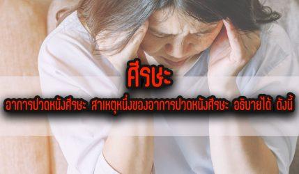 ศีรษะ อาการปวดหนังศีรษะ สาเหตุหนึ่งของอาการปวดหนังศีรษะ อธิบายได้ ดังนี้